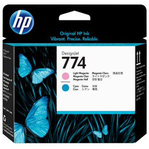 HP 774 Light Magenta/Light Cyan DesignJet Printhead