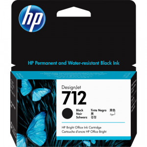 HP 712 38ml Black DesignJet Ink Cartridge