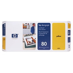 [C4823A] HP 80 Yellow Printhead/Cleaner