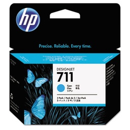 [CZ134A] HP 711 Cyan 29ml 3 pack ink cartridges